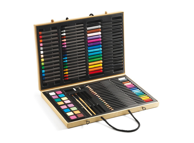 DJECO Большой набор: карандаши, фломастеры, краски, фото