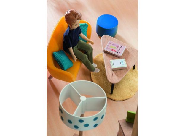 DJECO Мебель для кукольного дома Оранжевая гостиная 07822, фото , изображение 3