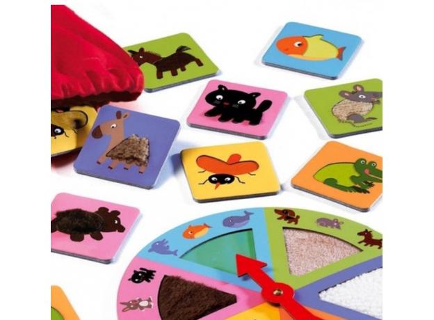 DJECO Игра Тактильное лото Животные 08129, фото , изображение 2