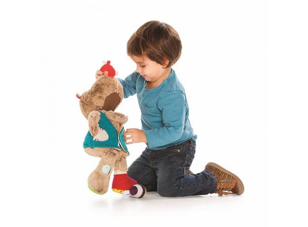Развивающая игрушка Lilliputiens «Медвежонок Цезарь», фото , изображение 3