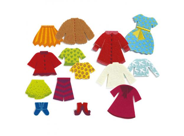 DJECO Деревянный пазл Одежда для  Клео 01697, фото , изображение 3