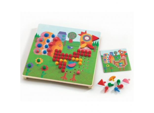 DJECO Игра Мозаика Животные 08137, фото , изображение 2