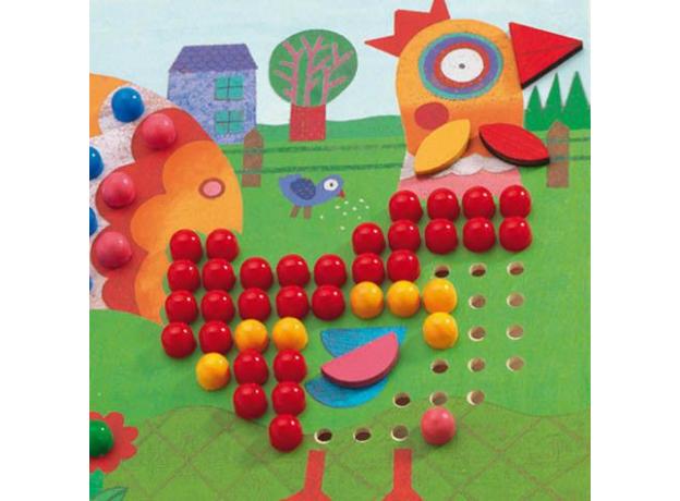 DJECO Игра Мозаика Животные 08137, фото , изображение 4