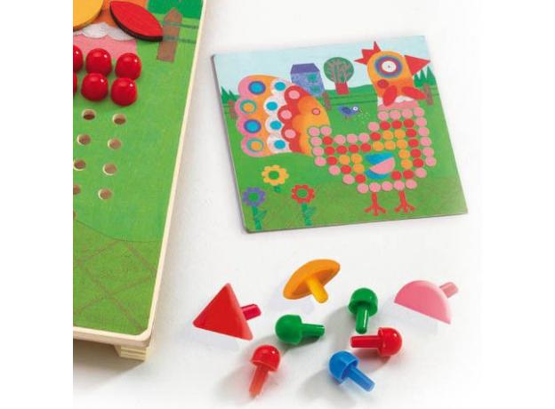 DJECO Игра Мозаика Животные 08137, фото , изображение 5
