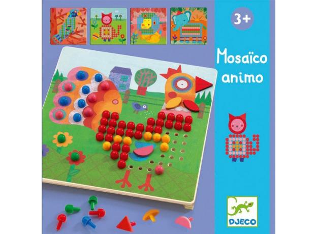 DJECO Игра Мозаика Животные 08137, фото
