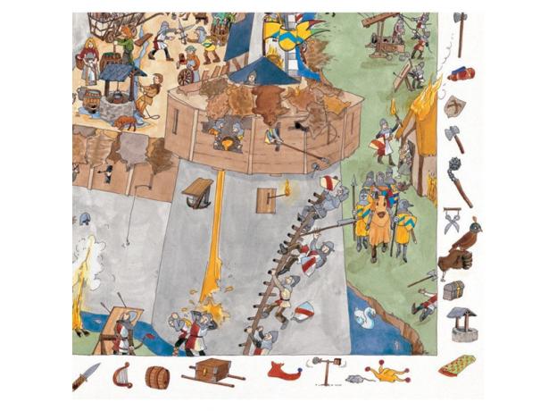 DJECO Пазл и игра на наблюдательность Замок-форт, 100дет 07503, фото , изображение 3
