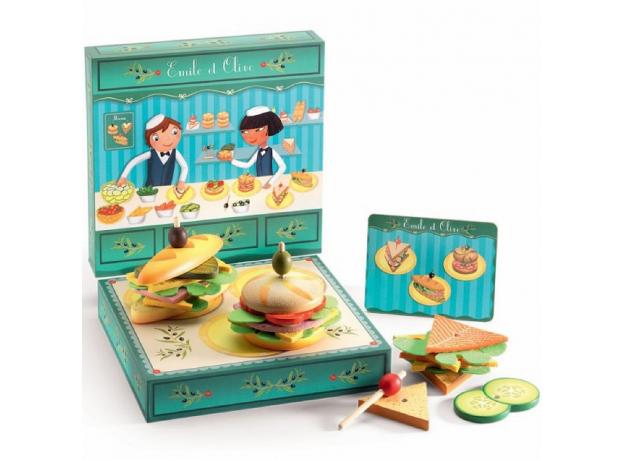 DJECO Сюжетно-ролевая игра «Сэндвичи от Эмиля и Олив» 06620, фото