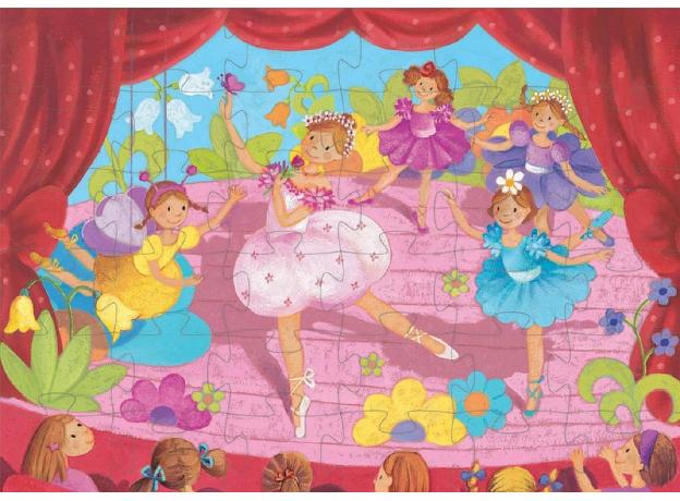 DJECO Пазл Балерина с цветами 07228, фото , изображение 4