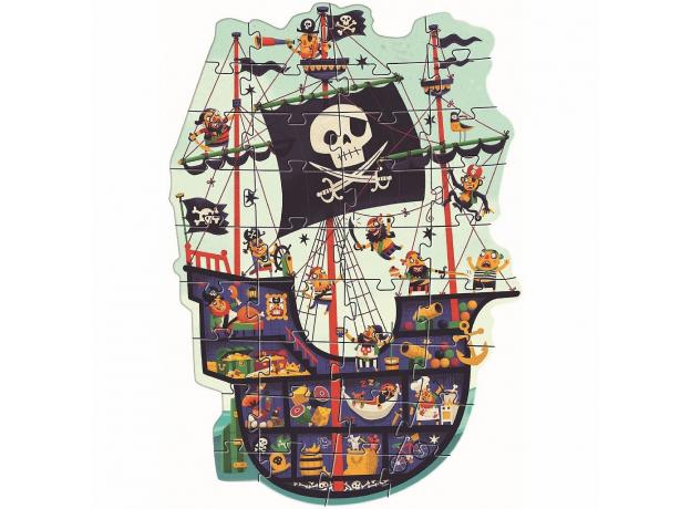 DJECO Пазл гигант, 36 дет., Пиратский корабль 07129, фото