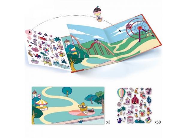 DJECO Набор с наклейками Ярмарка развлечений 08952, фото , изображение 2