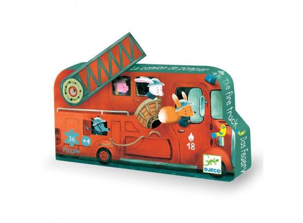 DJECO Пазл Пожарная машина, 16 дет 07269, фото , изображение 2