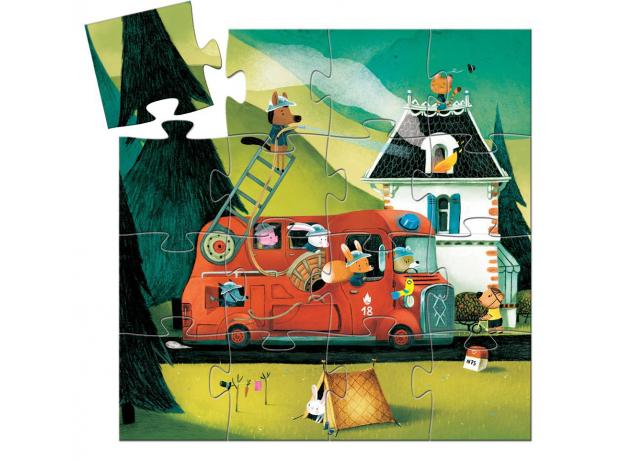 DJECO Пазл Пожарная машина, 16 дет 07269, фото