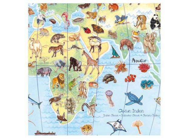 """DJECO Пазл """"Животные мира"""" (с буклетом) 07420, фото , изображение 4"""