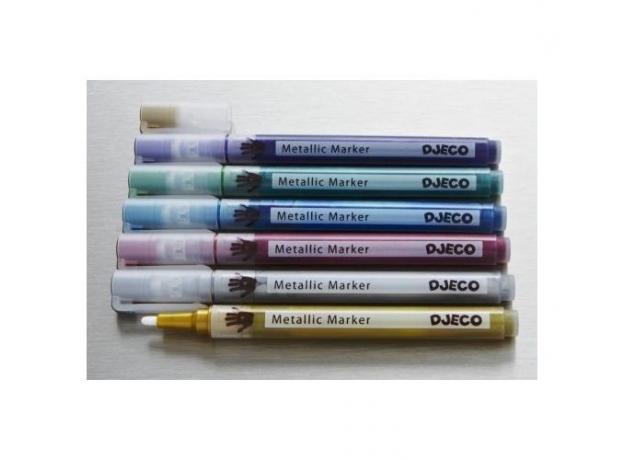 DJECO Фломастеры, 6 шт., металлик. 08870, фото , изображение 2