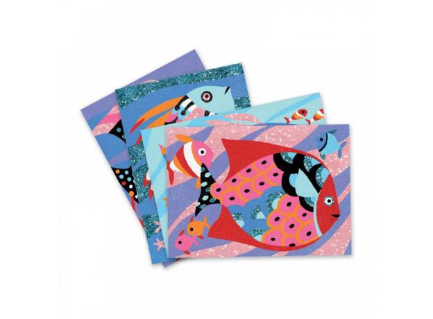 DJECO Набор цветного песка Радужные рыбки 08661, фото , изображение 2