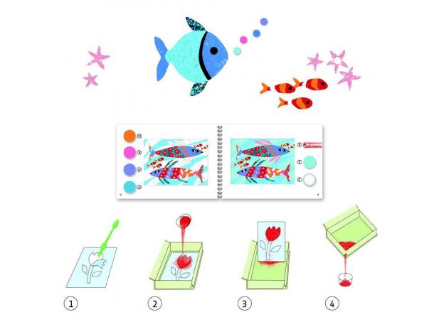 DJECO Набор цветного песка Радужные рыбки 08661, фото , изображение 3