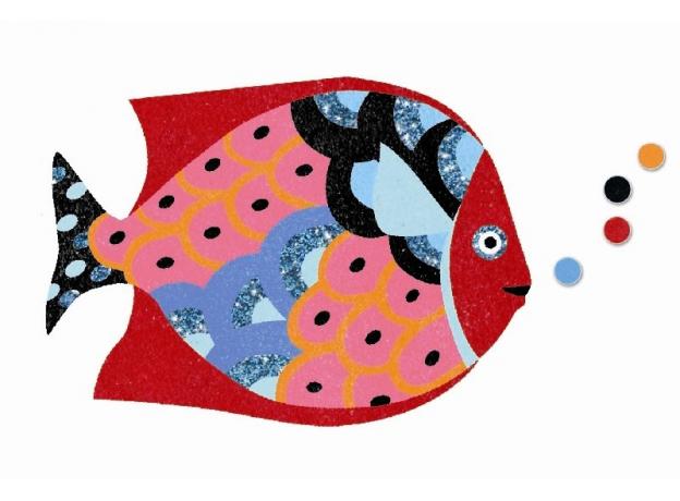 DJECO Набор цветного песка Радужные рыбки 08661, фото , изображение 8