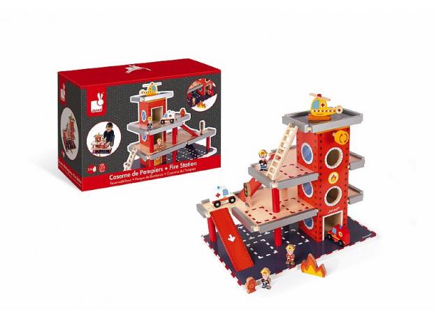 Игровой набор Janod «Пожарная станция» большой, фото , изображение 3