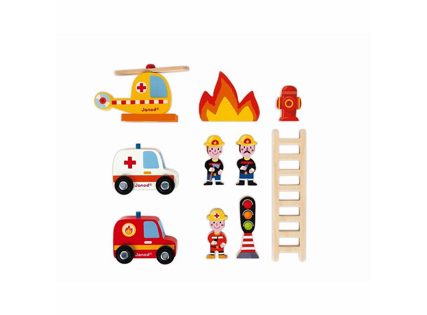 Игровой набор Janod «Пожарная станция» большой, фото , изображение 5