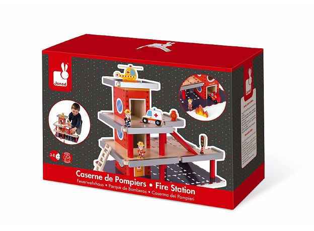 Игровой набор Janod «Пожарная станция» большой, фото , изображение 7