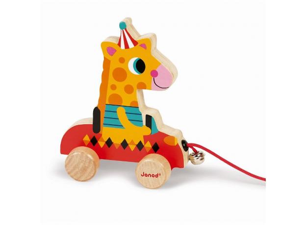 Каталка на веревочке Janod «Цирк» малая: 5 моделей, фото , изображение 5