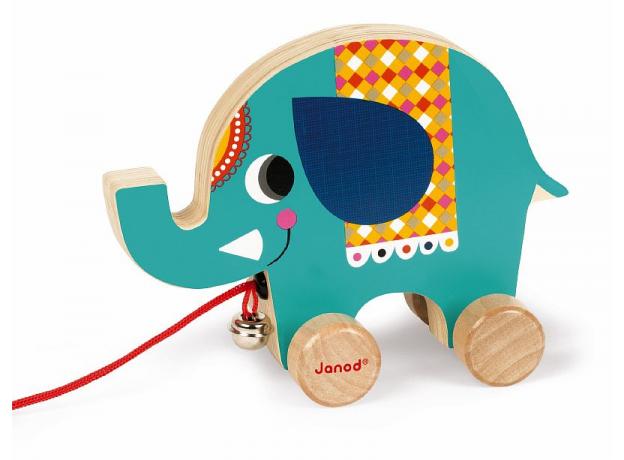 Каталка на веревочке Janod «Цирк» малая: 5 моделей, фото , изображение 6