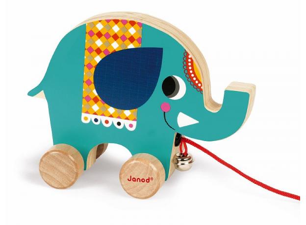 Каталка на веревочке Janod «Цирк» малая: 5 моделей, фото , изображение 7