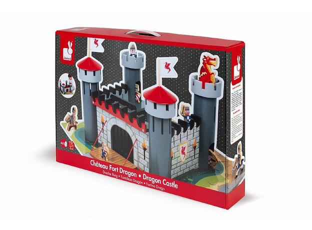 Набор-конструктор Janod «Рыцарский замок», 30 пазлов, 9 фигурок, фото , изображение 2