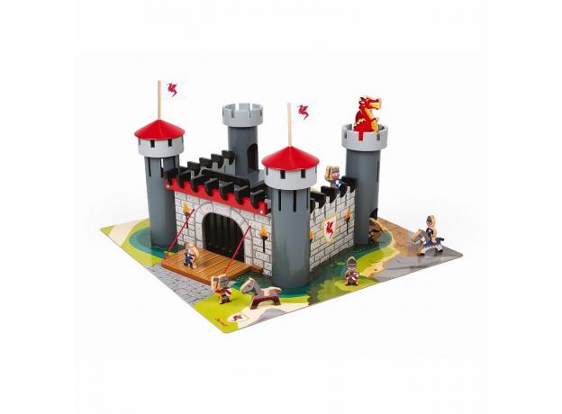 Набор-конструктор Janod «Рыцарский замок», 30 пазлов, 9 фигурок, фото , изображение 3