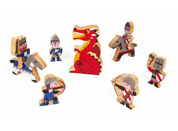 Набор-конструктор Janod «Рыцарский замок», 30 пазлов, 9 фигурок, фото , изображение 4
