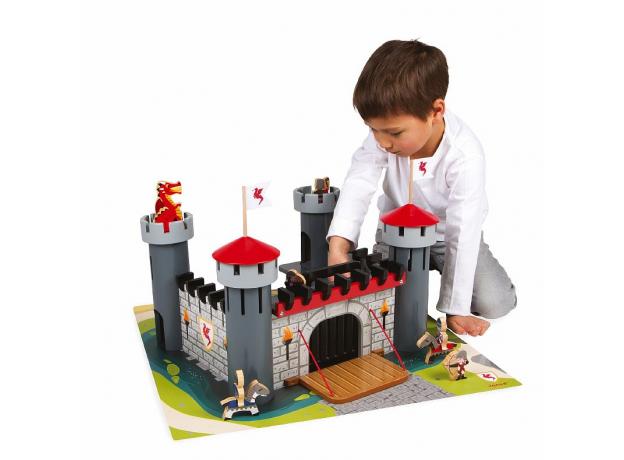 Набор-конструктор Janod «Рыцарский замок», 30 пазлов, 9 фигурок, фото , изображение 6