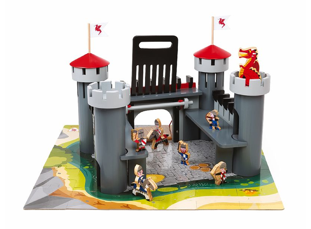 Набор-конструктор Janod «Рыцарский замок», 30 пазлов, 9 фигурок, фото
