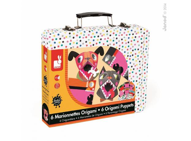 Набор для творчества оригами Janod «Животные»; 6 карточек, фото , изображение 3