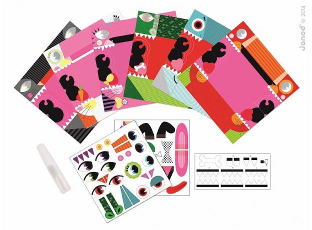 Набор для творчества оригами Janod «Животные»; 6 карточек, фото , изображение 4