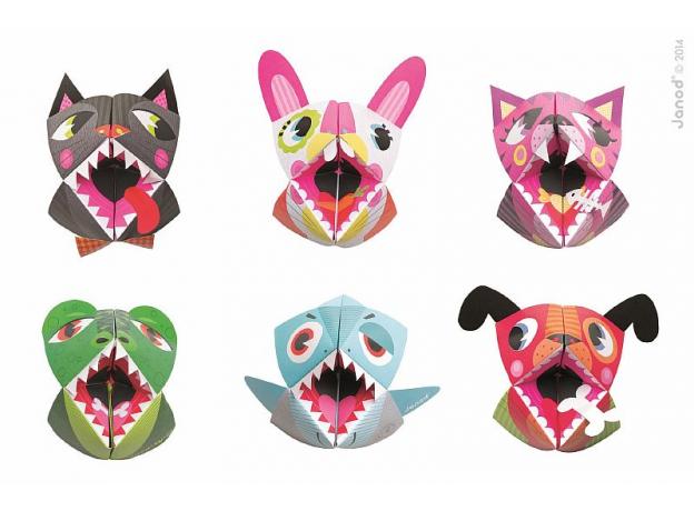 Набор для творчества оригами Janod «Животные»; 6 карточек, фото