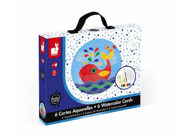 Набор для творчества Janod рисуем водой. «Подводное царство», 6 карточек, фото , изображение 2