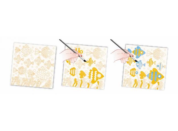 Набор для творчества Janod рисуем водой. «Подводное царство», 6 карточек, фото , изображение 4