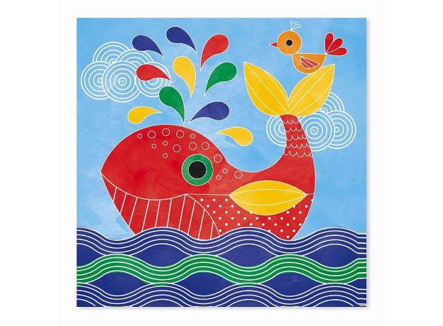 Набор для творчества Janod рисуем водой. «Подводное царство», 6 карточек, фото , изображение 6