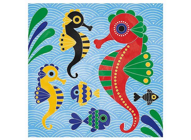 Набор для творчества Janod рисуем водой. «Подводное царство», 6 карточек, фото , изображение 7