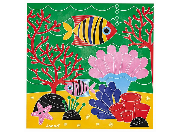 Набор для творчества Janod рисуем водой. «Подводное царство», 6 карточек, фото , изображение 10