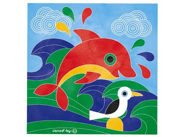 Набор для творчества Janod рисуем водой. «Подводное царство», 6 карточек, фото , изображение 11