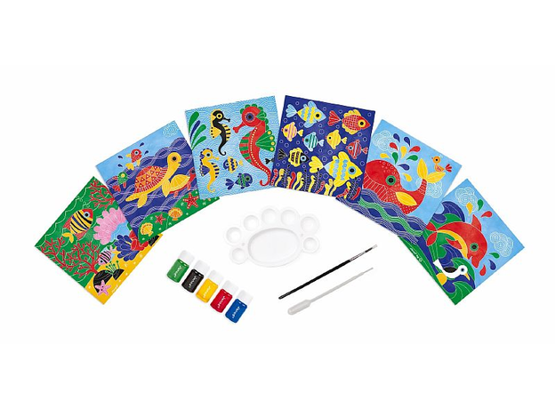 Набор для творчества Janod рисуем водой. «Подводное царство», 6 карточек, фото
