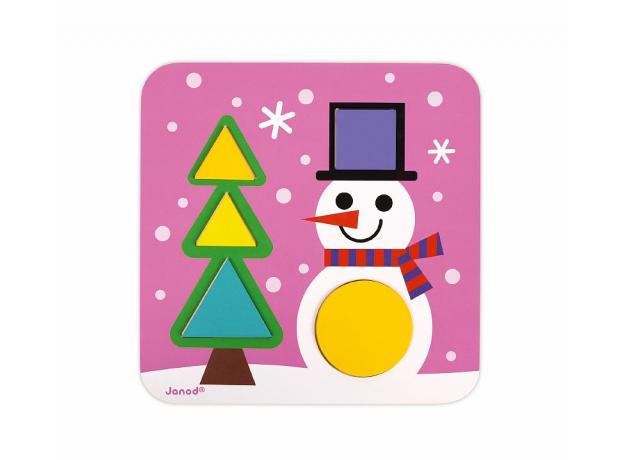 Сортер Janod «Фигуры и цвета» 6 двухстор. карточек, 29 дерев. фигур, фото , изображение 5