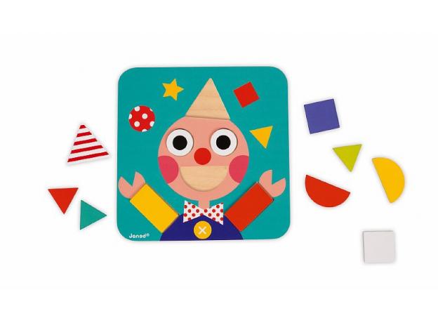 Сортер Janod «Фигуры и цвета» 6 двухстор. карточек, 29 дерев. фигур, фото , изображение 7
