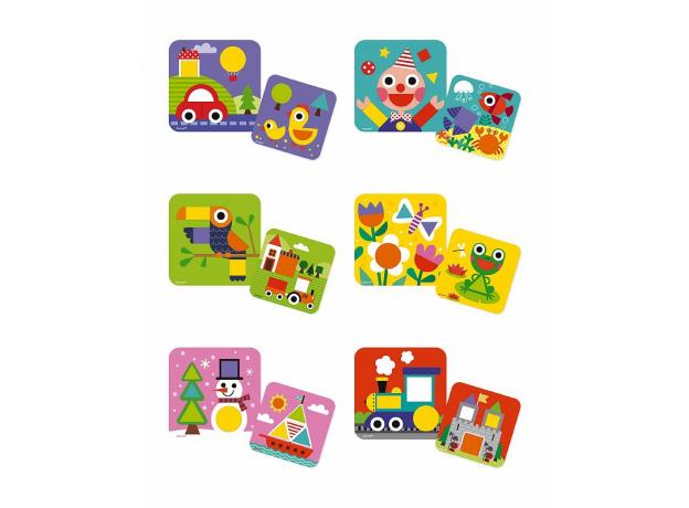 Сортер Janod «Фигуры и цвета» 6 двухстор. карточек, 29 дерев. фигур, фото , изображение 8