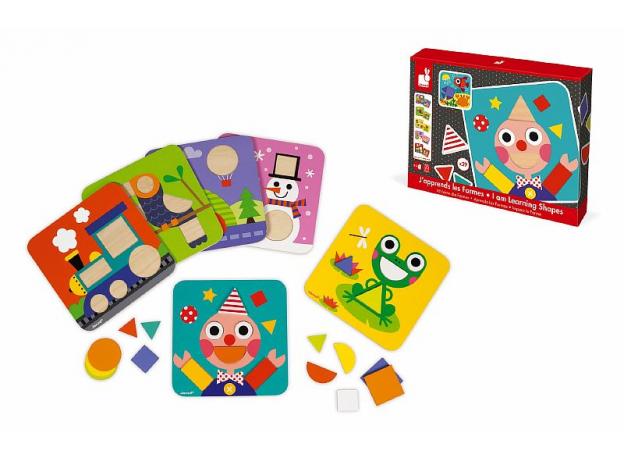 Сортер Janod «Фигуры и цвета» 6 двухстор. карточек, 29 дерев. фигур, фото , изображение 9