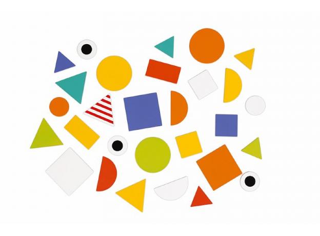 Сортер Janod «Фигуры и цвета» 6 двухстор. карточек, 29 дерев. фигур, фото , изображение 10