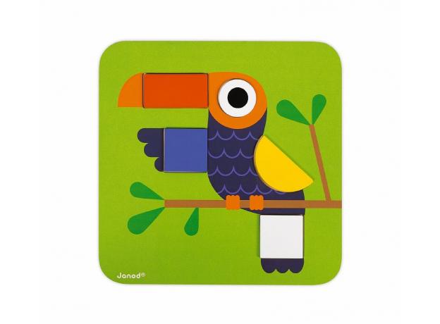 Сортер Janod «Фигуры и цвета» 6 двухстор. карточек, 29 дерев. фигур, фото , изображение 15