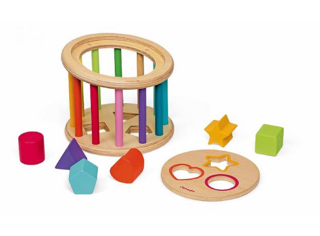 Сортер Janod «Барабан с разноцветными фигурами», фото , изображение 4