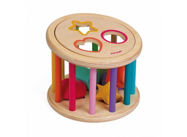 Сортер Janod «Барабан с разноцветными фигурами», фото